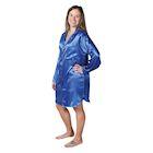 Metropolitan Women's Boyfriend Satin Nightshirt - Long Sleeve Pajama Sleepshirt