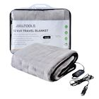 "Great Working Tools Heated Electric Car Blanket, Gray - 3 Heat Settings, Auto Shutoff, Washable, 55"" X 40"", Long 8' Cord Plugs into Car's 12v Outlet"