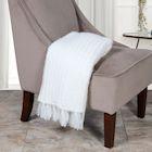 "Home District Fringe Throw Blanket - Decorative Warm Acrylic Afghan - 50"" x 60"""