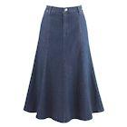 """Women's 8-Gore Denim Riding Maxi Skirt - Medium Blue - 31.5"""" Long"""
