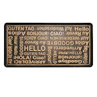 "Art & Artifact Hello Goodbye Foreign Languarges Boot Tray Shoe Tray - Large Rubber Floor Protector - 32"" x 16"""