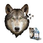 Madd Capp I Am Wolf Shaped Jigsaw Puzzle - 300 Piece Animal Head Puzzle - Educational Family Fun