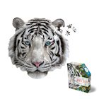 Madd Capp I Am White Tiger Jigsaw Puzzle - 300 Piece Animal Head Puzzle - Educational Family Fun