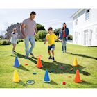 ETNA Backyard Carnival Game Set, Children's Indoor Outdoor Toy, Ring Toss Bean Bag Toss & Cones 24-piece Set