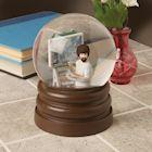 SURREAL ENTERTAINMENT Bob Ross Snow Globe Joy of Painting, Glass & Resin, 5.5 Inch