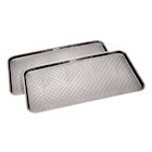 "Great Working Tools Boot Trays - Set of 2 Gray All Weather Heavy Duty Shoe Trays, Pet Bowl Mats Trap Mud, Water and Food Mess to Protect Floors - Gray, 30"" x 15"" x 1.2"""