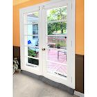 Home District French Door Draft Dodger - Weighted Door and Window Breeze Guard, Noise Blocker, Bug Stopper
