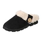 Avanti Womens Toasty Scuff Slipper - Indoor/Outdoor Microsuede Slides, Faux Fur