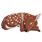"WHAT ON EARTH Sleeping Deer Area Rug - Cute Hand-Hooked Animal Shaped Accent Carpet, 35"" x 18"""