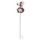 ART & ARTIFACT Fairy Wind Spinner - Metal Kinetic Sculpture Ballerina Garden Stake, Spinning Yard Art