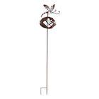 ART & ARTIFACT Dragonfly Wind Spinner - Metal Kinetic Sculpture Garden Stake, Spinning Yard Art