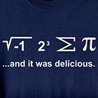 I Ate Some Pi Shirt with Math Equation
