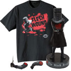 Monty Python Fan Gift Set with Black Knight Shake Em's Doll and Just A Flesh Wound Cotton T-Shirt