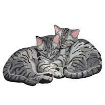 Hand-Hooked Peaceful Kittens Rug